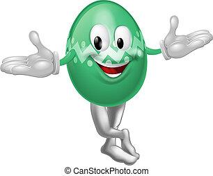 Cartoon Easter Egg Man