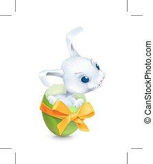 Cartoon Easter rabbit