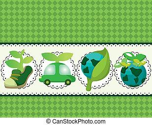 cartoon eco card
