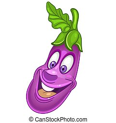 Cartoon Eggplant Vegetable