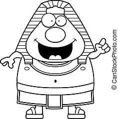 Cartoon Egyptian Pharaoh Idea - A cartoon illustration of an...