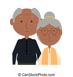 eldery couple icon