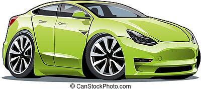 Cartoon electric car
