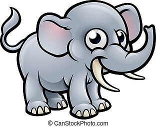 Cartoon Elephant Character