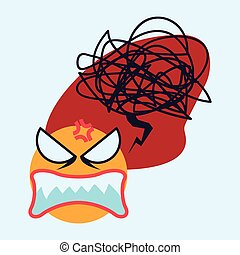 Cartoon emotions design.