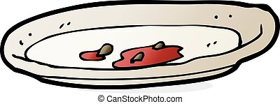 cartoon empty plate