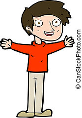cartoon enthusiastic man