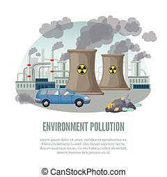 Cartoon Environmental Pollution Template