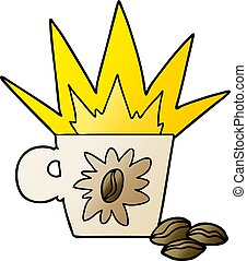 cartoon espresso coffee
