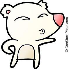 cartoon explaining polar bear