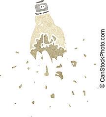 cartoon exploding light bulb