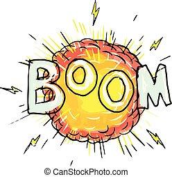 Cartoon Explosion Boom