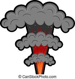 Cartoon explosion. eps10
