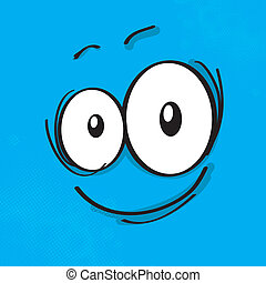 Cartoon expression on colored background, eps10 vector...