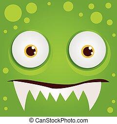 Cartoon expression monster