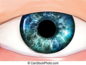 Cartoon eye