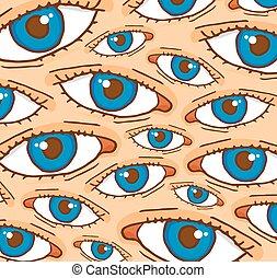 Cartoon eyes background texture