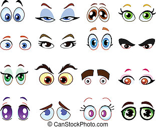 Cartoon eyes - Cartoon eye set