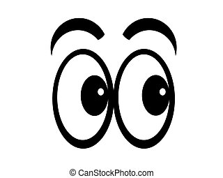 Cartoon eyes looking left, flip and they look right