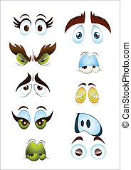 Cartoon Eyes Set - Abstract Design Art of Cartoon Eyes Set...