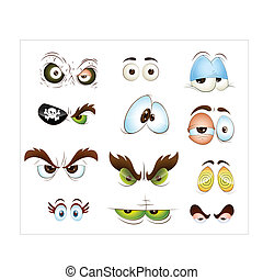 Cartoon Eyes Vectors - Creative Abstract Conceptual Design...