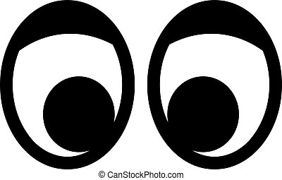 cartoon laughing faces with googly eyes laughing and toothy rh canstockphoto com moving googly eyes clip art Cartoon Eyes Clip Art
