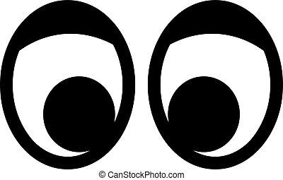 Cartoon eyes with eyelid