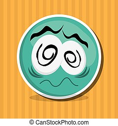 Cartoon face design