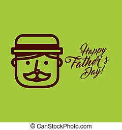 cartoon face father day