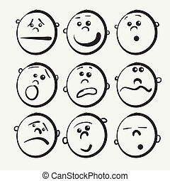 Cartoon face icons