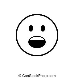 Cartoon Face Screaming People Emotion Icon