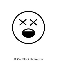 Cartoon Face Shocked People Emotion Icon