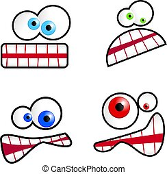 Cartoon Faces - Collection of cute cartoon emoticon faces...