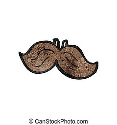 cartoon fake mustache