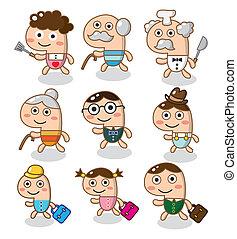 cartoon, familie