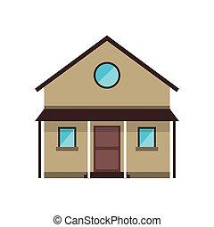 cartoon familiy house countryside