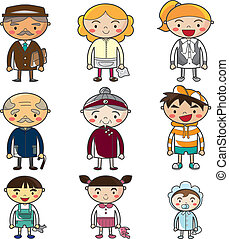 cartoon family  - cartoon family