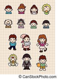 cartoon family  - cartoon family