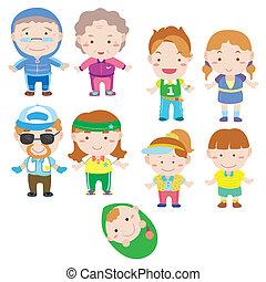 cartoon family icon