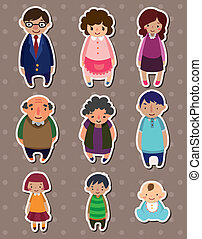 cartoon family Stickers,Label