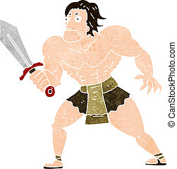 cartoon fantasy hero man