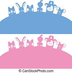 Cartoon farm animals