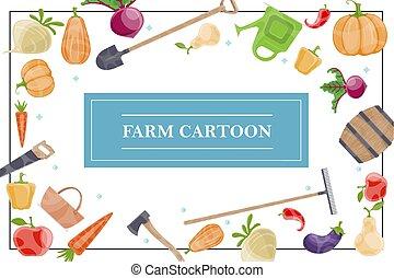 Cartoon Farm Elements Concept