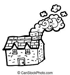 cartoon farmhouse