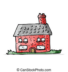 cartoon farmhouse
