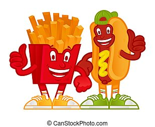 Cartoon fast foods