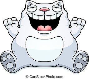 Cartoon Fat Cat Sitting