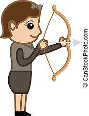 Cartoon Female Archer