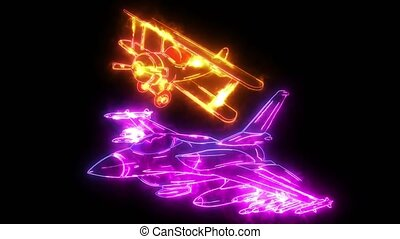 Cartoon Fighter Plane. Twin-engine, variable-sweep wing multirole combat aircraft.