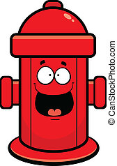Cartoon illustration of a fire hydrant with a happy expression.